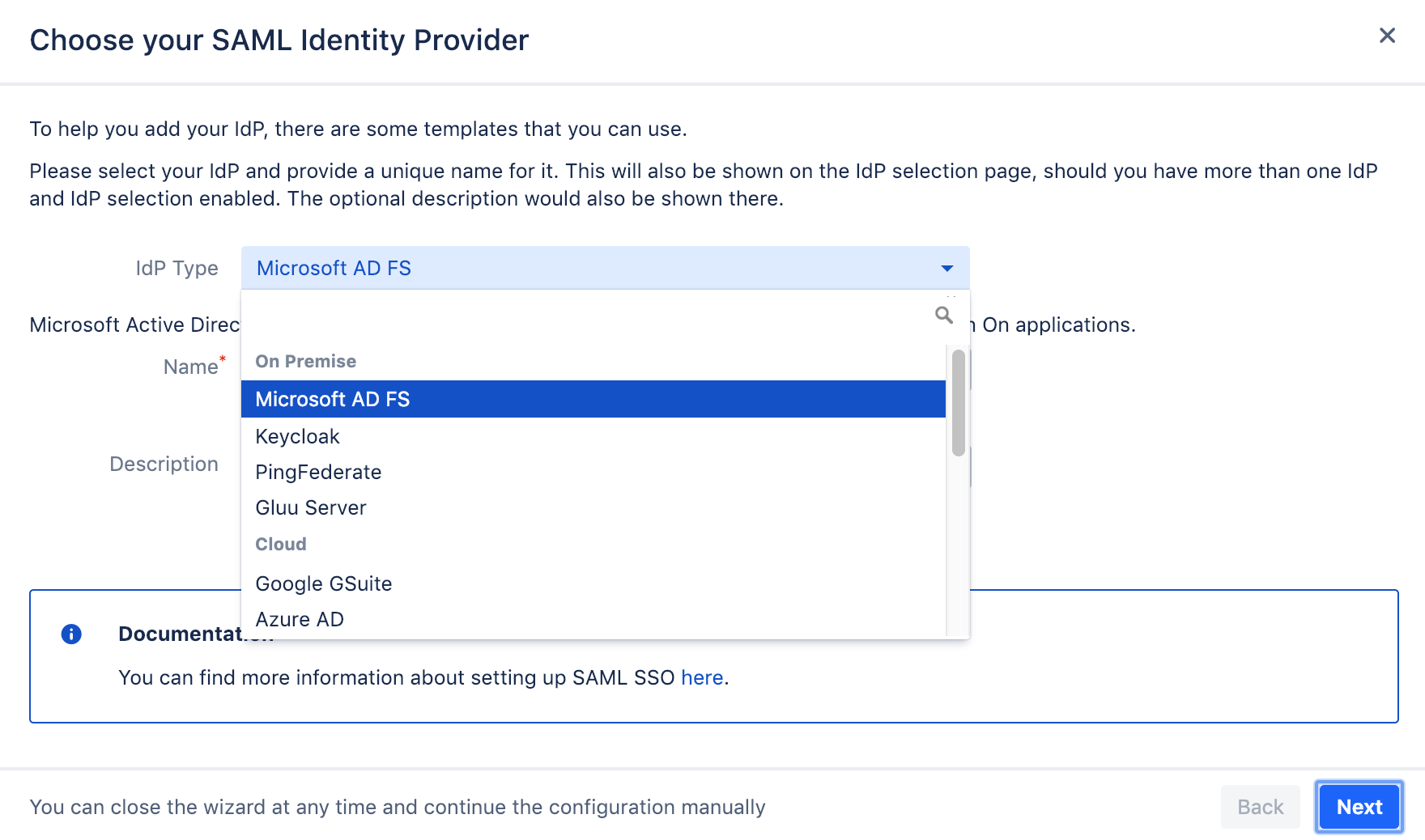 AD FS with LDAP User Directory
