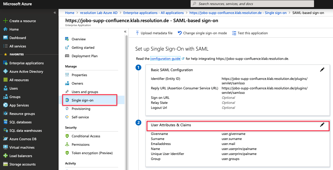 JIT and Azure AD: Sending Groups via SAML Attributes