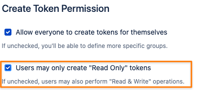 create a read only token for the Bitbucket API